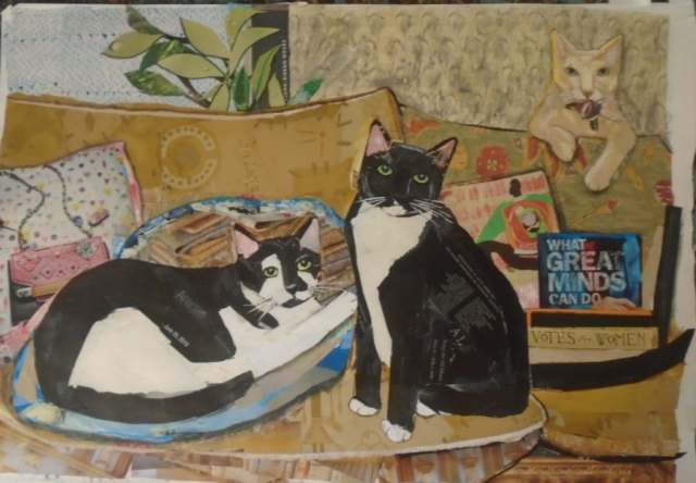 Steve, Dave and L.C., commissioned portrait to celebrate an important birthday